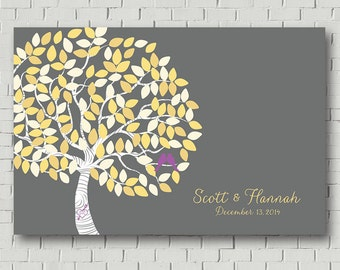 Wedding Guest Book sign In Wedding Guest Book Tree / Wedding Tree Wedding Signs Wedding Gift Wedding Canvas Guest Book Poster Guestbook Sign