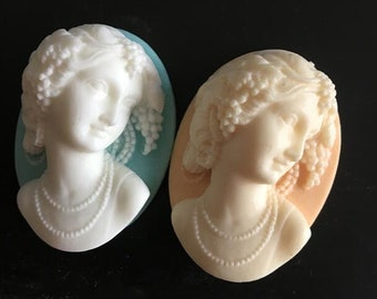 6 pcs of resin cameo 3D  high dome-- 30X40mm-RC0156-2-you can choose teh color
