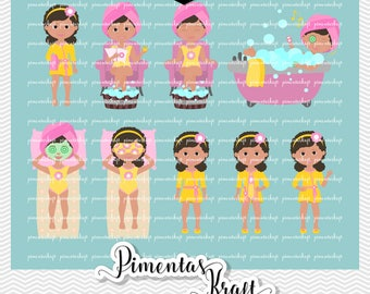 Digital Clipart Spa Day,Spa Day Beauty,spa Day Clipart,beauty Clipart,