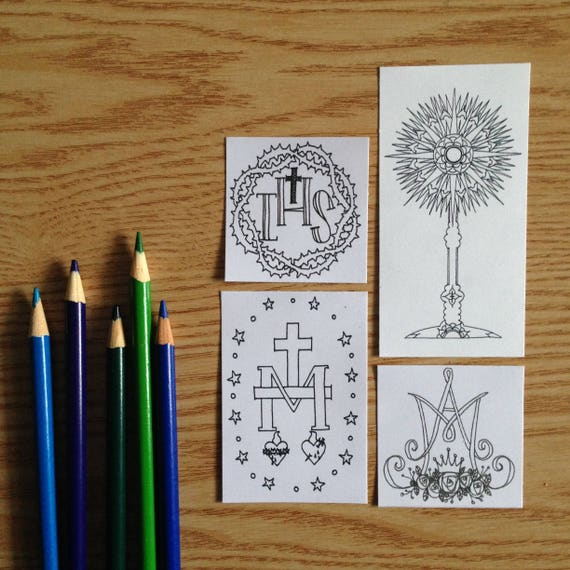 Colorable Stickers from Look to Him and Be Radiant