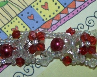 Bracelet costume jewelry in BORDEAUX Tibetan silver and glass beads
