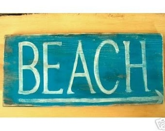 Primitive Beach Sign Cottage Beach Bungalow Beach House