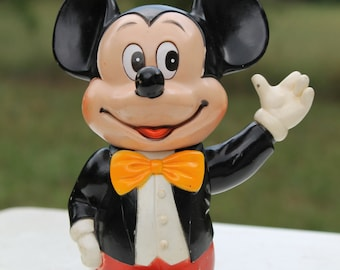 Vintage Mickey Mouse Coin Bank