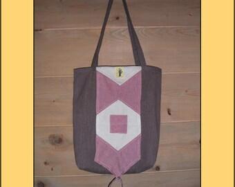"""""""Rose"""" organic folding shopping bag"""