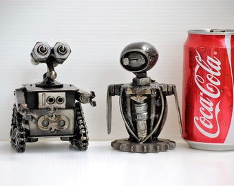 METAL SCULPTURE Mini Robot Model Recycled Handmade Art Gift For Anniversary Birthday Christmas Wedding Mother's Day Gifts