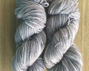 Hand Dyed Yarn Worsted weight available 100g   Sterling Silver