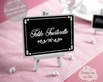 "Brand-Table ""Chalkboard easel"" customized"