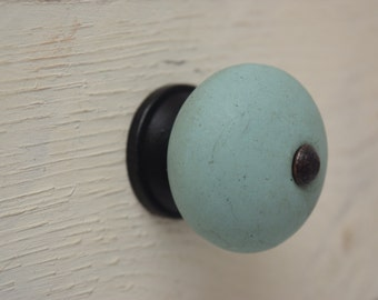 Teal Drawer Knobs With Bronze Hardware, Drawer Pull, Cabinet Pull, Cabinet Knobs