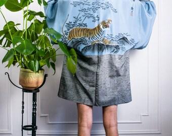 Hand Painted Silk Kimono Robe