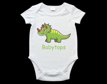 Babytops dinosaur baby onesie, cute baby dinosaur romper suit, birth gift