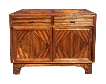 Vintage Palm Beach Pencil Reed Cabinet