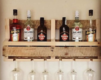 Rustic Reclaimed Wooden Wine Rack