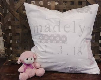 """Personalized Baby Pillow (20"""" x 20"""")"""