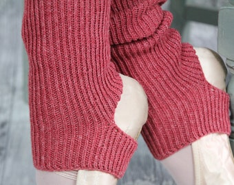 BOHO cherry red lambs wool Legwarmers Yoga/Pilates/Ballet/Dance  THIS COLOUR  Handcranked One size fits all burgundy lambs wool - army chic