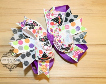 Wickedly Sweet bow, Halloween, Witch Hat, Witch Shoes
