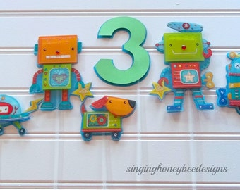 Robot Cake Topper, Robot smash cake, robot centerpiece, robot birthday, robot party, robot baby shower, robot diaper cake, space cake topper