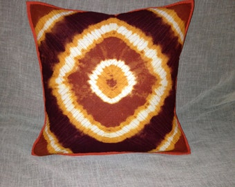 "1960s Psychedelic Decorative 16"" Pillow Cover Tie Die"