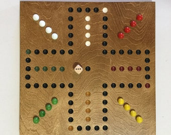 """11"""", Aggravation, Game Board, Wood, Glass Marbles, Wooden, Game Boards, Marbles, Marble Board, Marble Game, Aggravation Game Board"""