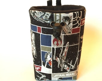 Star Wars X Wing Chalk bag, Zero Waste Rock Climbing Gear