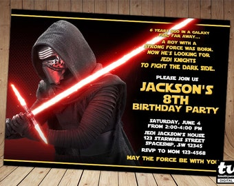 Kylo Ren Invitation