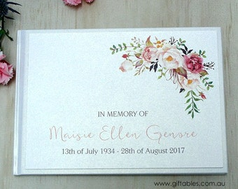 Personalised Guest Book - Wildflower
