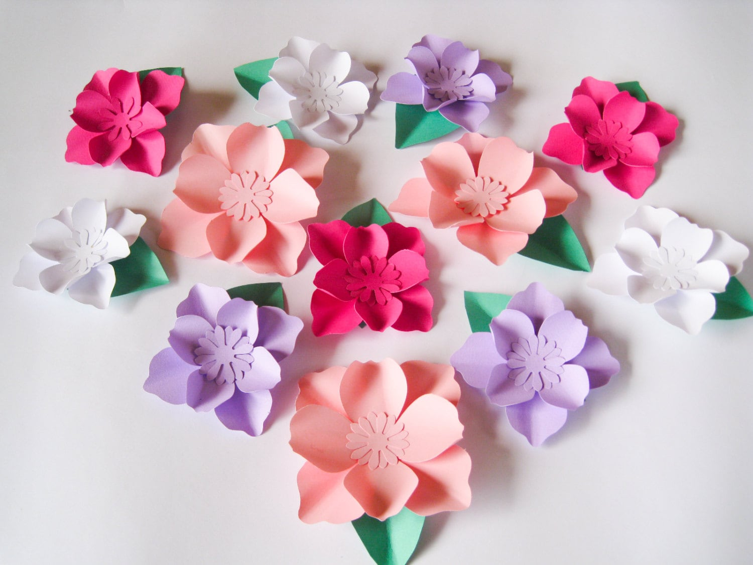 12 Paper Flowers Small Paper Flowers Wedding Arch Large