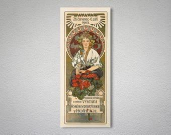 Vystava Ceského by Alphonse Mucha - Poster Paper, Sticker or Canvas Print / Gift Idea