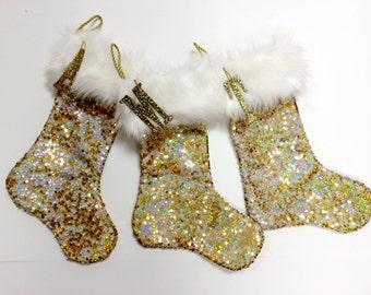 gold christmas stocking personalized christmas stocking personalized white and gold christmas stocking sparkle stocking - Gold Christmas Stocking