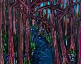 Twisted Trees Limited Edition Giclee print signed and numbered by artist Katie Lennon