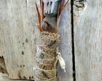 Death Head Voodoo Doll Folk Art