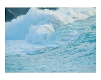 Waves Hawaii Oahu North Shore Surf Art- 11x14 inch image