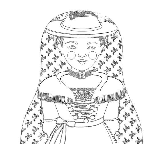bavarian folk art coloring pages - photo#41