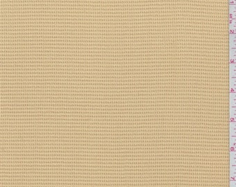 Dusty Gold Cotton Pique, Fabric By The Yard