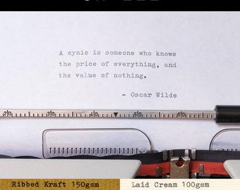 Real Typewriter – Oscar Wilde Quotes – Part 2