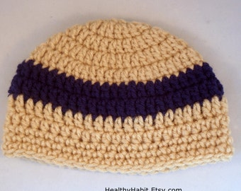 Striped Tan Hat, Baby Beanie, Baby Boy Hat, Infant Crochet, Childs Hat, Handmade Hat, Newborn Cap, Photo Prop Hat, Crochet Beanie, Boys Hat