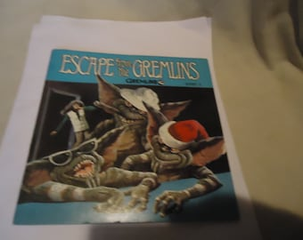Vintage 1984 Warner Bros Escape From The Gremlins Story 3 Record Book 33 1/3, collectable, music, gremlins