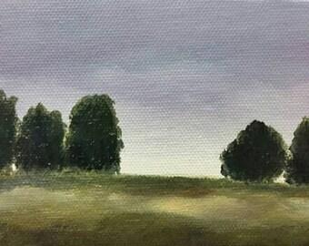 Tree Line - Oil Painting