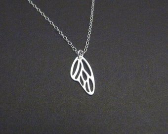 Butterfly wing necklace, sterling silver, meaningful Christmas gift for women