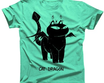 Cat Dragon Tshirt available in mens and womens (womens shirts are a junior fit, ie they run small)