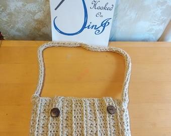 Handbag, purse, handmade, crochet purse, light weight purse, vintage purse