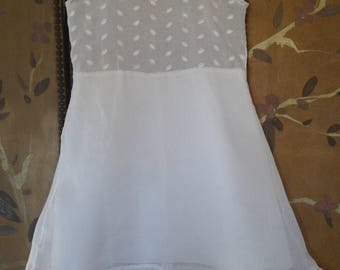 60s white cotton girls petticoat / slip dress by FairTex Undies