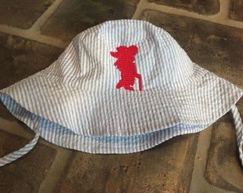 Baby bucket hat with monogram