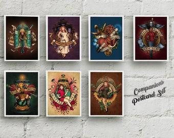 "The Companions - SEVEN Postcards Set - 4""x6"""