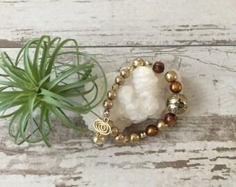Chocolate Fresh Water Pearl Bracelet