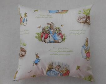 "Beatrix Potter Peter Rabbit Nursery Cushion Cover 40cm x 40cm (16""x16"")"
