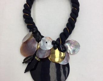 Statement Necklace Wearable Art 1980's
