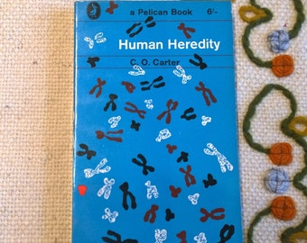 Human Heredity-by C.O. Carter-vintage Pelican paperback book