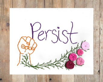 Persist- Hand embroidery