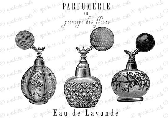 items similar to vintage french perfume bottles labels clipart rh etsy com Vintage Flowers Clip Art Borders vintage french clipart