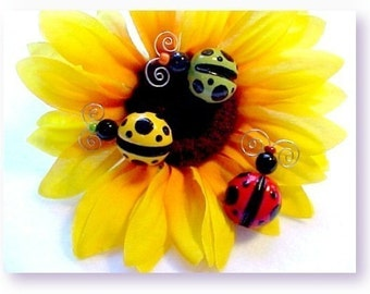 Ladybug Pin, Magnet or Tack